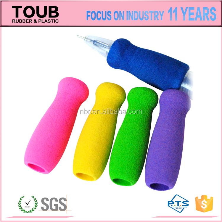 Factory OEM Soft Rubber Foam Grips Rainbow Pencil grip