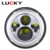 White Yellow ring with DRL and turn light 7 inch round LED headlight