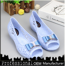 DS FACTORY plastic sandals fish head shoes help low sequined crystal jelly shoes slipper Bow Crown sandals jelly-59
