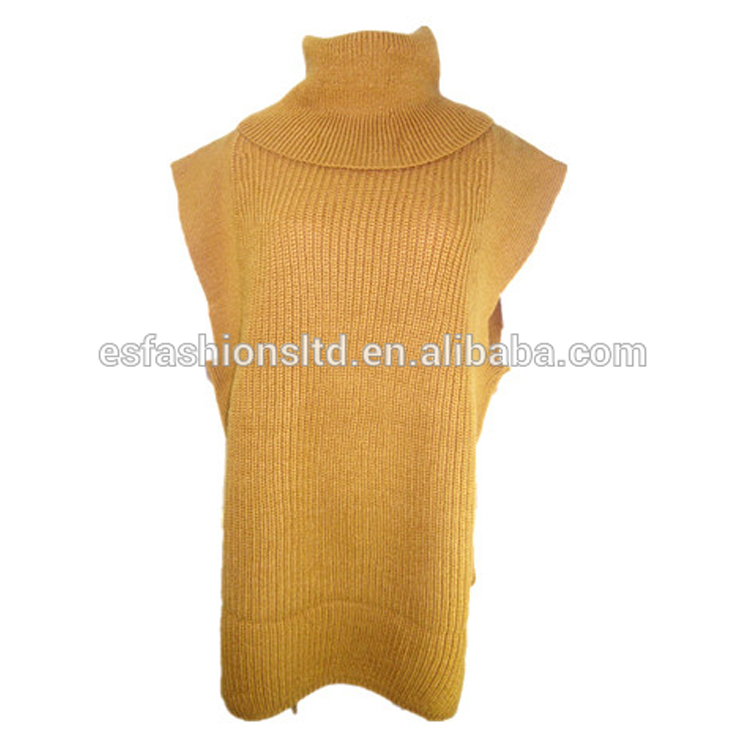 New Arrival Winter Ladies Casual Wool Turtle Neck Dress