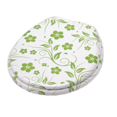 plastic melamine toilet seat cover with flower design