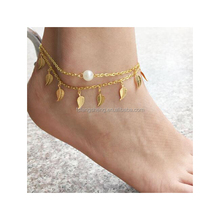 Barefoot Sandal - Anklet Toe Ring - Foot Jewelry Barefoot Sandal -Gold Ankle Bracelet - Initial Anklet- Beach Wedding Jewelry -