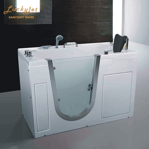 Small Acrylic Transparent Whirlpool Corner Bathtub For Old People and Disabled People