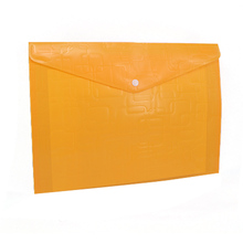 Top quality colorful clear FC/A5 size plastic document bag
