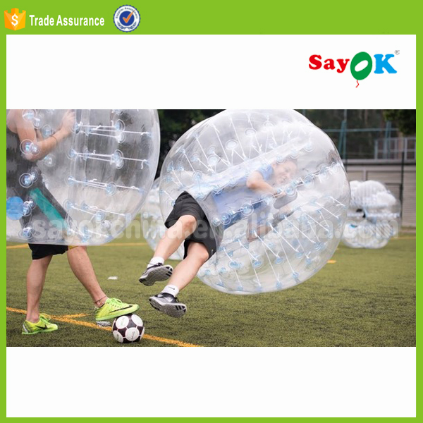 Bubble football,the TPU inflatable human soccer bubble ball toys