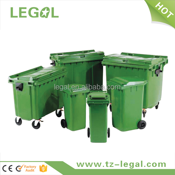 industry garbage bin 1100L clear plastic recycle can