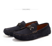 men fashion leather loafer shoes driving shoes