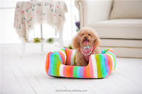 china factory Classic pattern cosy pet dog square bed dot short plush
