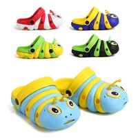 2015 new products cute caterpillars design baby sandals shoes comfortable eva garden shoes