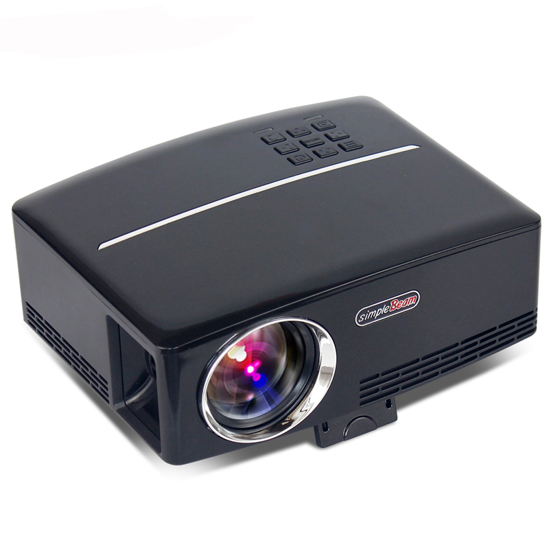 GP80 1800lumens Portable HD home cinema LED Projector LCD Game PC Digital Mini Projectors 1080P Proyector 3D Beamer