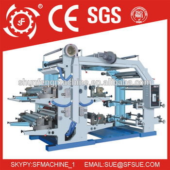 High Speed 4 Color Flexo Plastic Film Printing Machine
