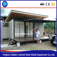 Wholesale garage flat pack ready made steel structure frame prefab shipping container house