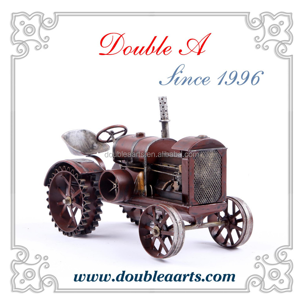 Wholesale metal model car tractor model mini tractor handmade craft home decoration items