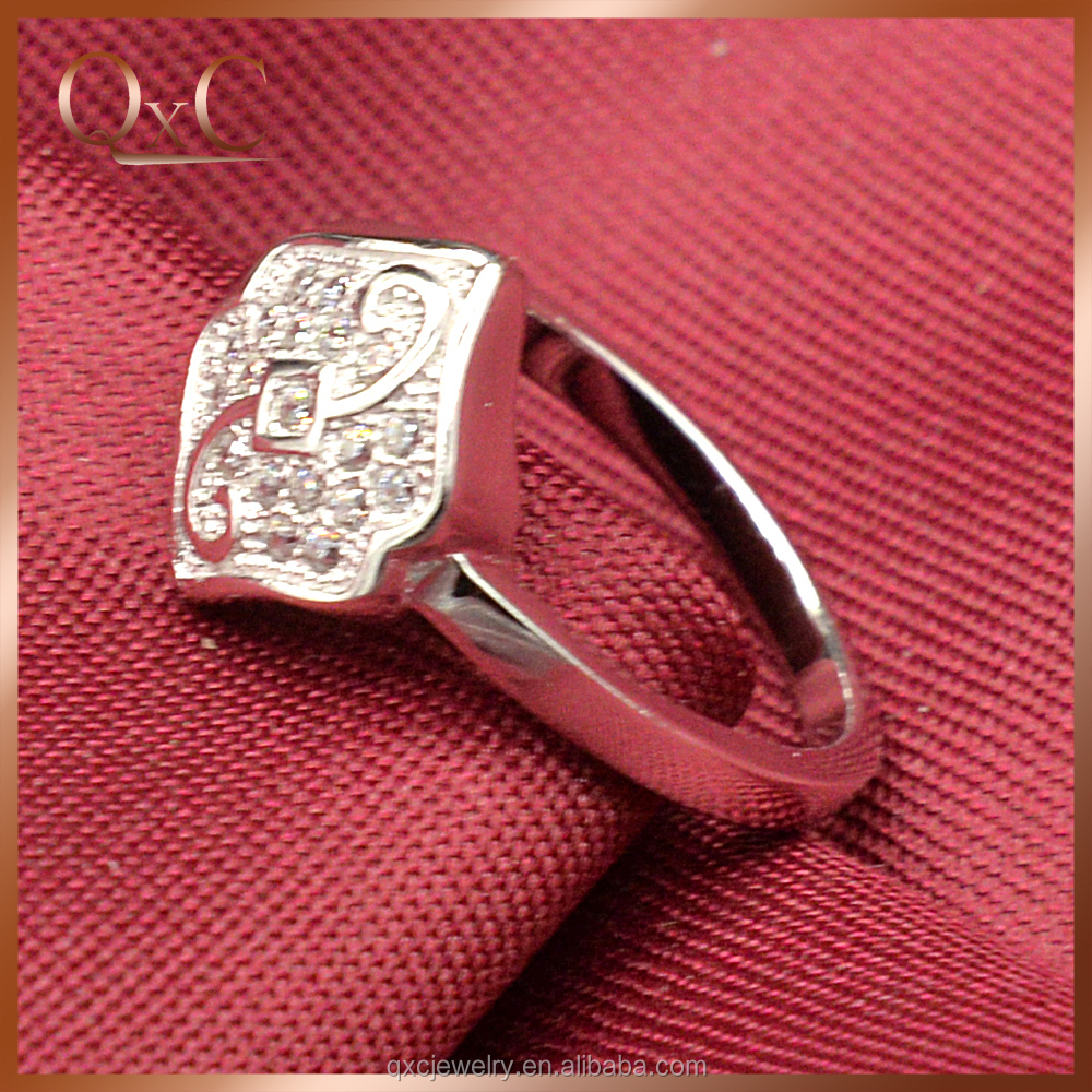 Silver Gemstone Imitation Ring Jewelry Custom Engraved Ring famous ring designers