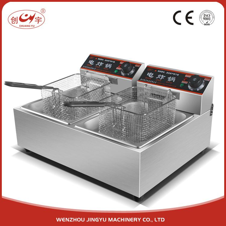 Chuangyu Best Selling Products 5 Kw Spiral Potato Fryer Churro Machine And Fryer / Ultrex Cool Touch Deep Fat Fryer
