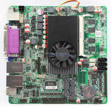ZC-B1037D10C 1037U FAN version motherboard with DC Power,motherboard support 3 SATA,8 USB ports
