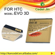 OEM High Quality Mobile Phone BG58100 gold Battery For For HTC EVO 3D