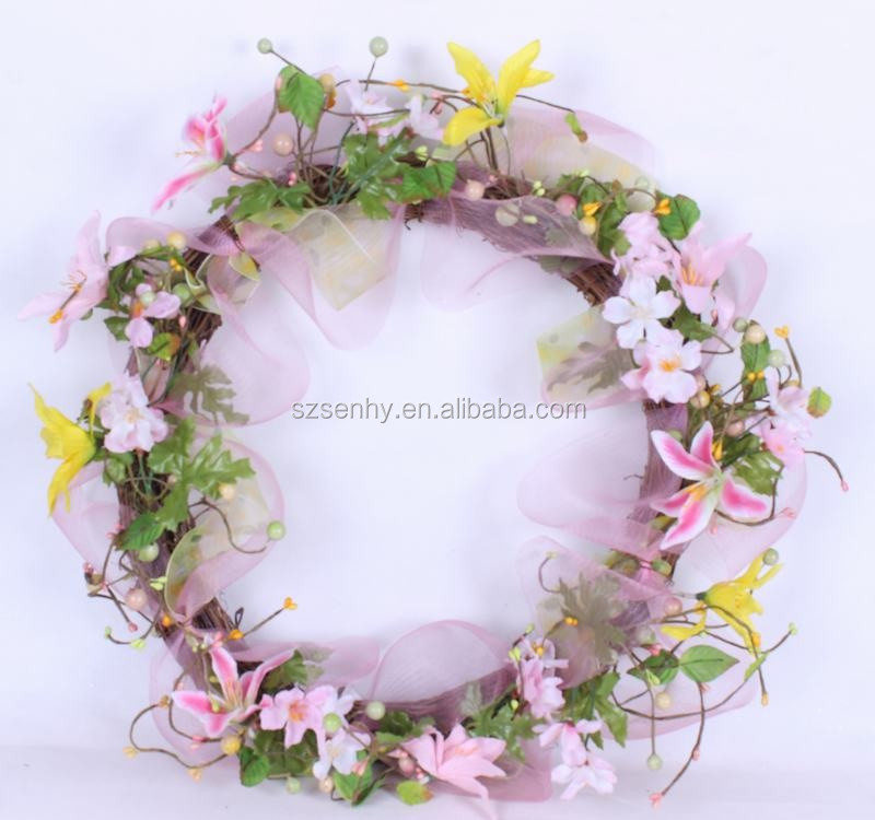 2016 high quality unique large aquarium easter egg wreath decoration