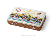 Colorful promotional packing tin box for candy/cookie