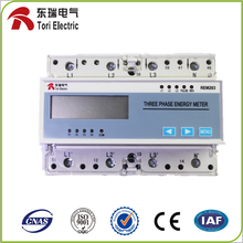 3 phase 4 wire energy meter connection din rail energy meter with RS485 MODBUS