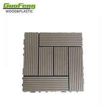 Waterproof outdoor DIY wpc decking tile for balcony, garden and swimming pool