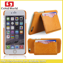 Mobile Phone PU Leather Wallet Pocket Stand Holder Cell Phone Case With Card Slot For iPhone 6 plus