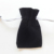 Reusable velvet black envelope bag with drawstring for coin
