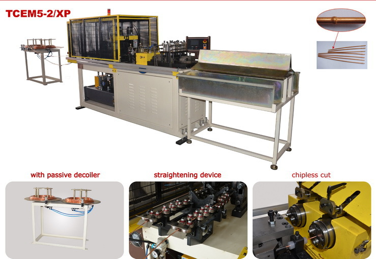 CNC plasma capillary tube cutting and end forming machine