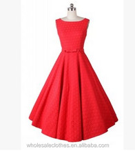 NEW bestdress Vintage 50s Halter Neck Dress Polka dots Swing Jive Dress Rockabilly Retro PinUp Dress## 50's