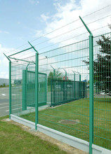 Green plastic coate Welded wire mesh fence netting