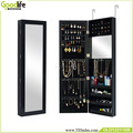 Made in china wall recessed jewelry cabinet with mirror