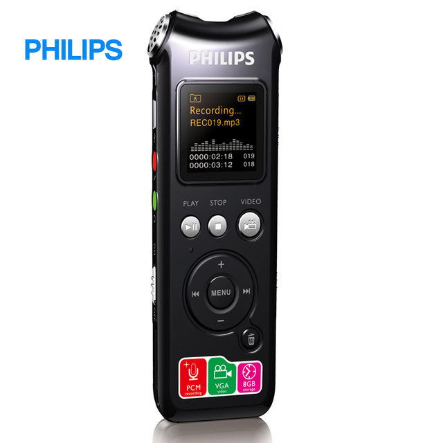 Philips Long Battery Life Voice recorder With Long distance Wireless Microphone