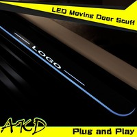 AKD Car Styling for BMW X6 LED Moving Door E71 E72 LED Door Sill plate 2008-2015 Side Step Cover Pedal
