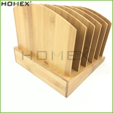 Bamboo Step File Folder Organizer 5 Tier Homex BSCI/Factory