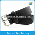 Men's 40mm Wide Casual Black Color Faux PU Leather Belt for Jeans
