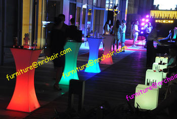 Shanghai nightclub party event rental commercial furniture acrylic high top led bar cocktail table