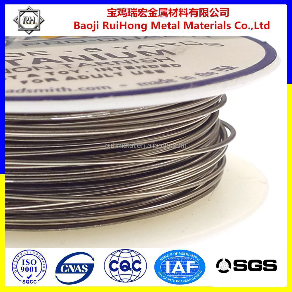 ASTM B863 top quality grade5 shape memory alloy wire for glasses frames