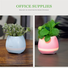 creative furniture wireless Bluetooth flowerpot speaker with led light