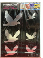 Popular latest acrylic crown mirrored stickers