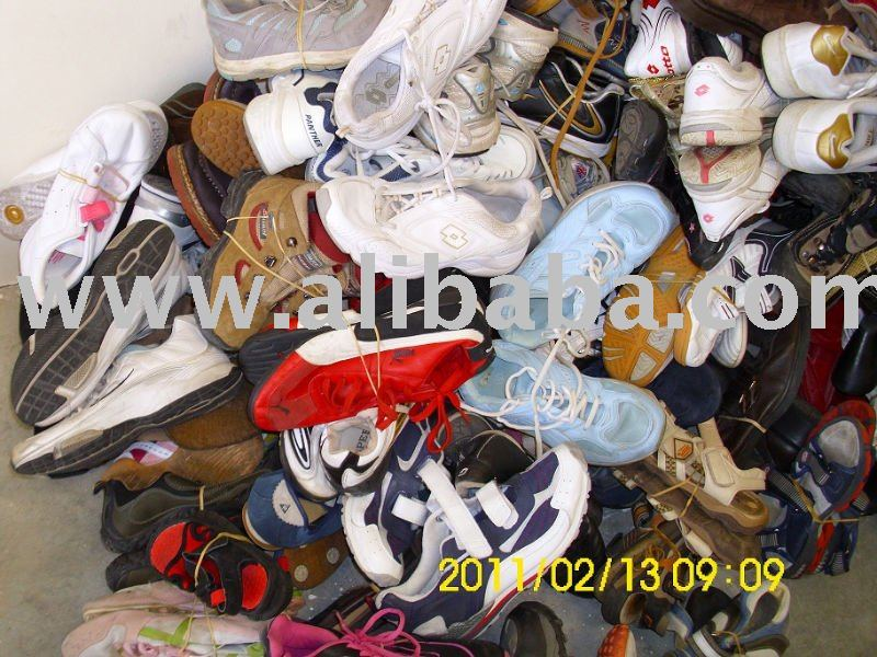 USED SHOES, HANDBAGS, BELTS, USED CLOTHES
