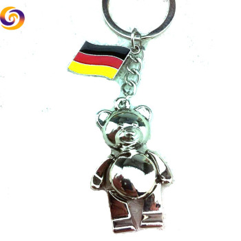 Germany tourism souvenir metal 3d bear flower keychain key chain