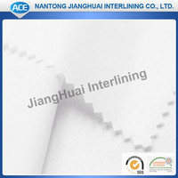 China wholesale 100polyester Tricot knitted Fusible interlining /warp knitted garment interfacing as shirt collar fusing