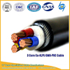 Low Voltage Galvanized steel wire armoured XLPE Insulation Lead Sheath power Cable with IEC 60228 Standard