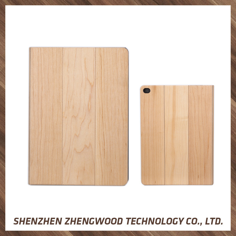 2015 laser engraving custom design real wood case vr phone case universal wood flip case For iPad air 2