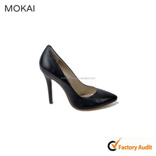 MK016-1-Black kid leather lady shoes women leather elegant shoes office /party shoes