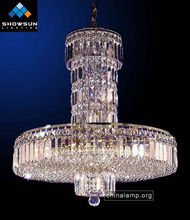 Contemporary silver Italian crystal pendant lights