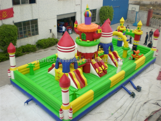 Colourful and fabulous inflatable giant Rocket Bouncy Castle for Rock lovers
