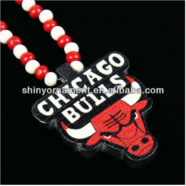 Chicago bulles style Good wood necklace