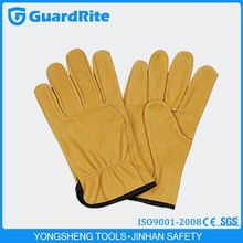 GuardRite Brand Custom Made Rugged Leather Gloves Truck Driver Gloves S-8003