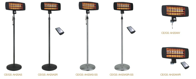 Electric Stand Heater IP24/CE/GS/EMC/RoHS Approved Infrared Heater Outdoor